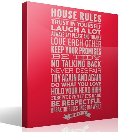 Wall Stickers: House Rules