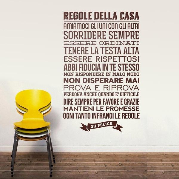 Wall Stickers: Regolle Della Casa