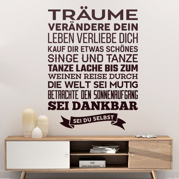 Wall Stickers: Sei du selbst