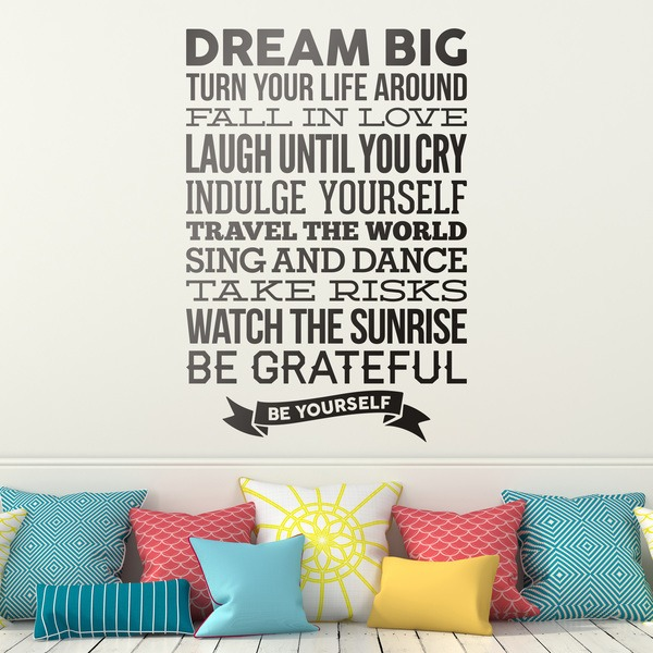 Wall Stickers: Dream big and be yourself