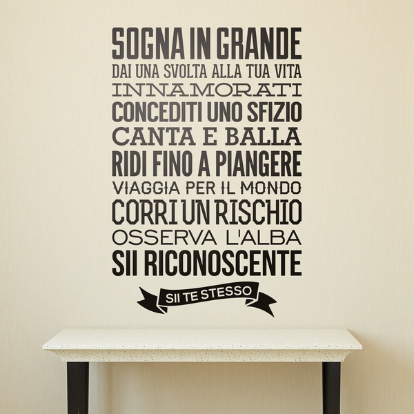 Wall Stickers: Sii te stesso