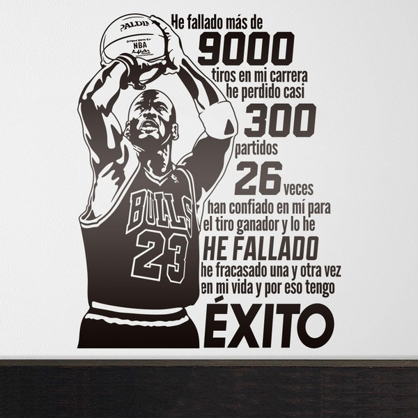 Wall Stickers: He fallado - Michael Jordan