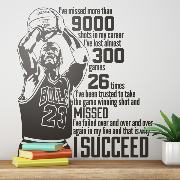 Wall Stickers The Success Of Michael Jordan