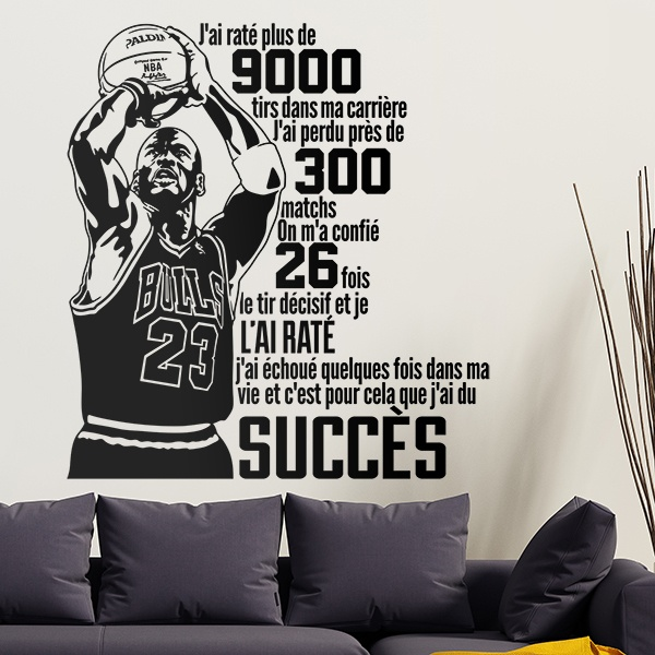 Wall Stickers: Typographique Michael Jordan
