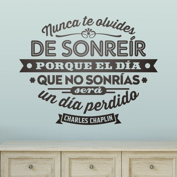 Wall Stickers: Nunca te olvides de sonreir...
