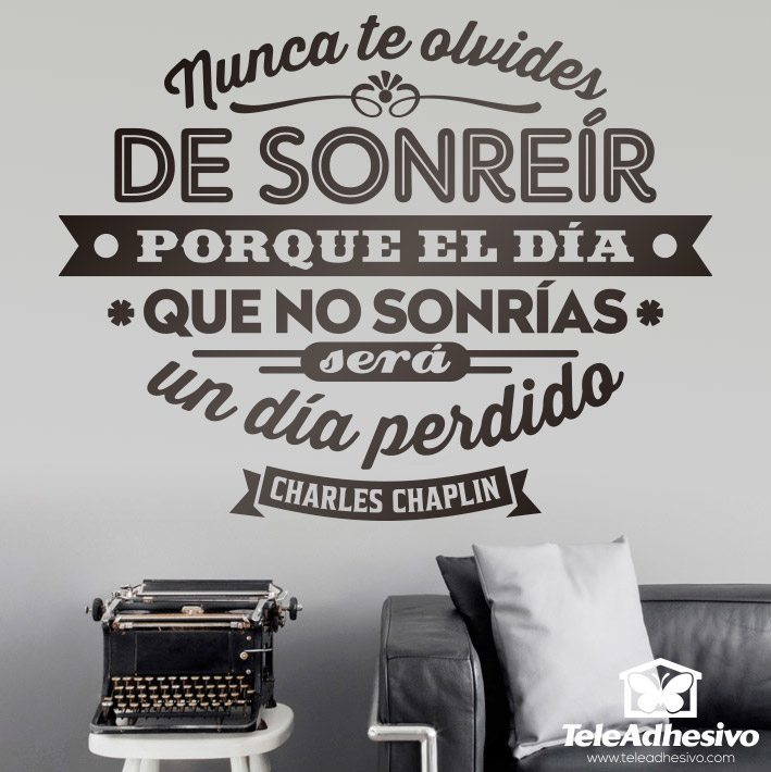 Wall Stickers: Nunca te olvides de sonreir