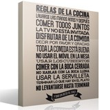 Wall Stickers: kitchen rules - Spanish 3