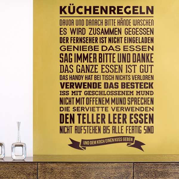 Wall Stickers: Kitchen rules - german