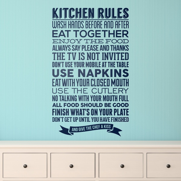 Wall Stickers: Kitchen Rules