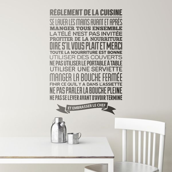 Wall Stickers: Kitchen rules - french