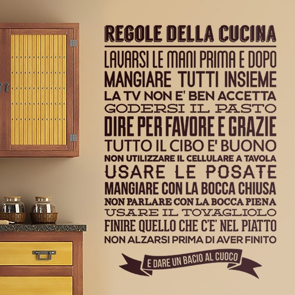 Wall Stickers: Kitchen rules - Italian