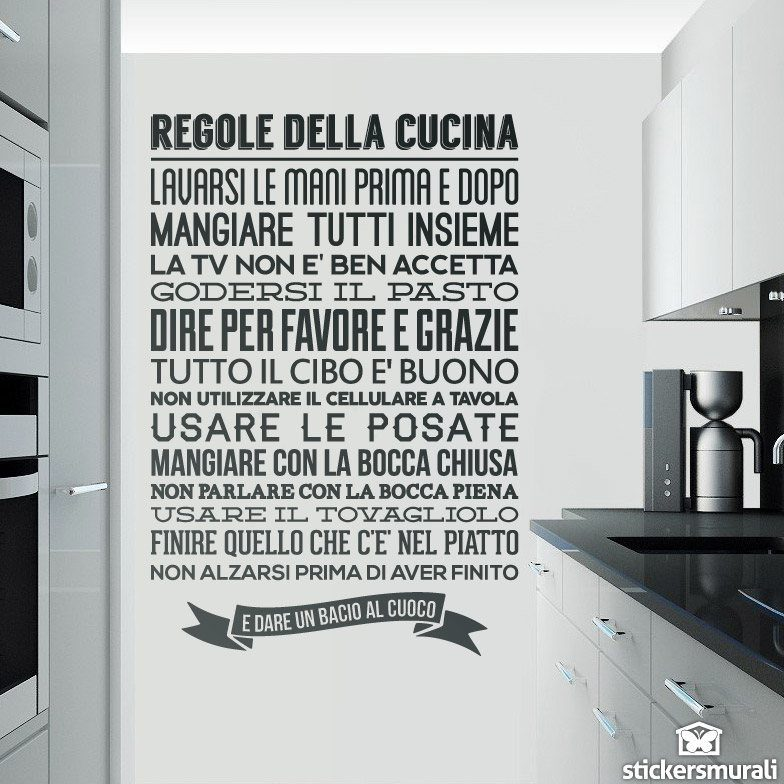 wall per sticker - all about wall stickers - Sticker Cucina