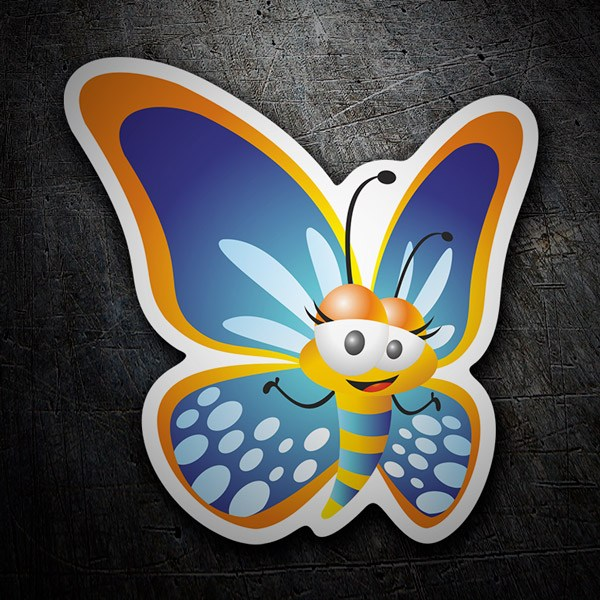 Car & Motorbike Stickers: Blue butterfly