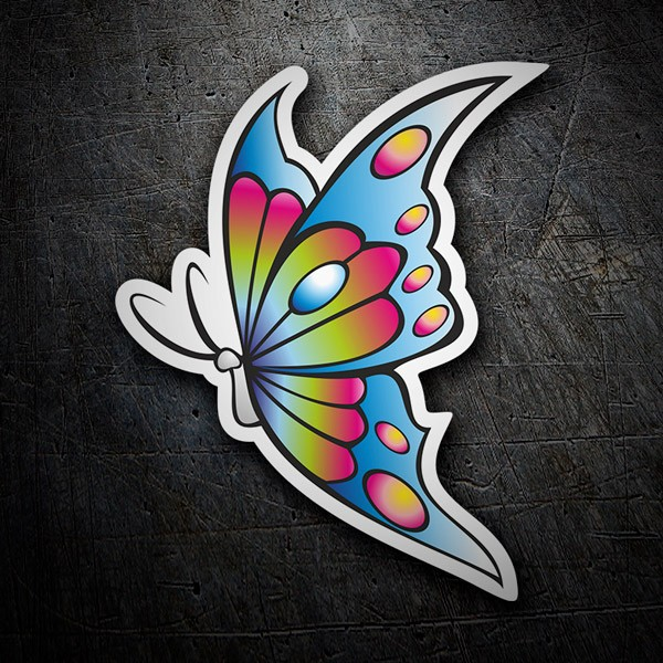 Car & Motorbike Stickers: Coloured butterfly