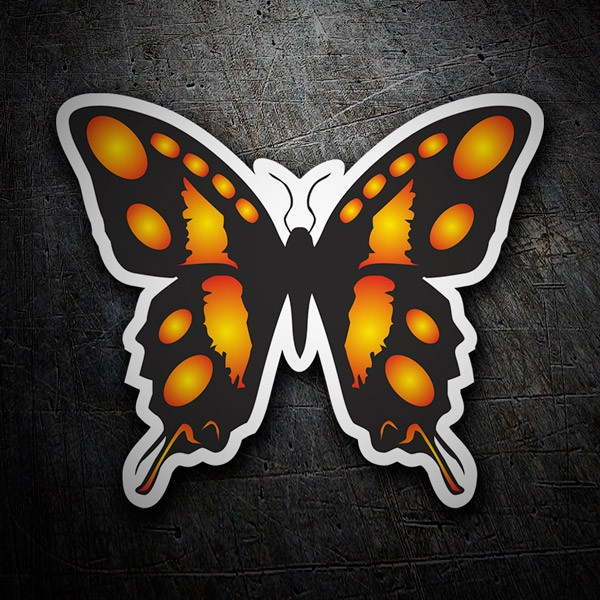 Car & Motorbike Stickers: Monarch Butterfly