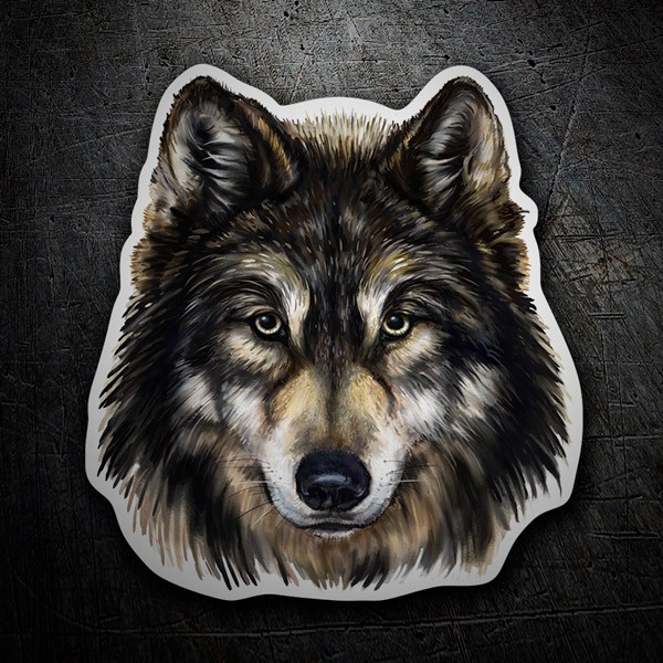 Car & Motorbike Stickers: Wolf head