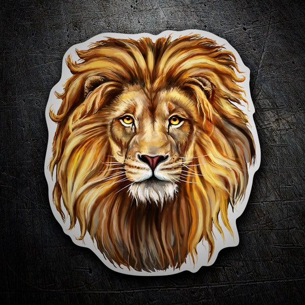 Car & Motorbike Stickers: Head of a lion