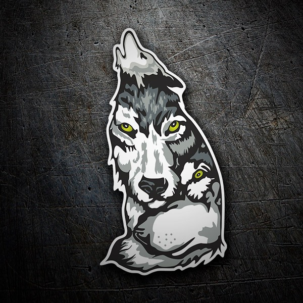 Car & Motorbike Stickers: Wolf