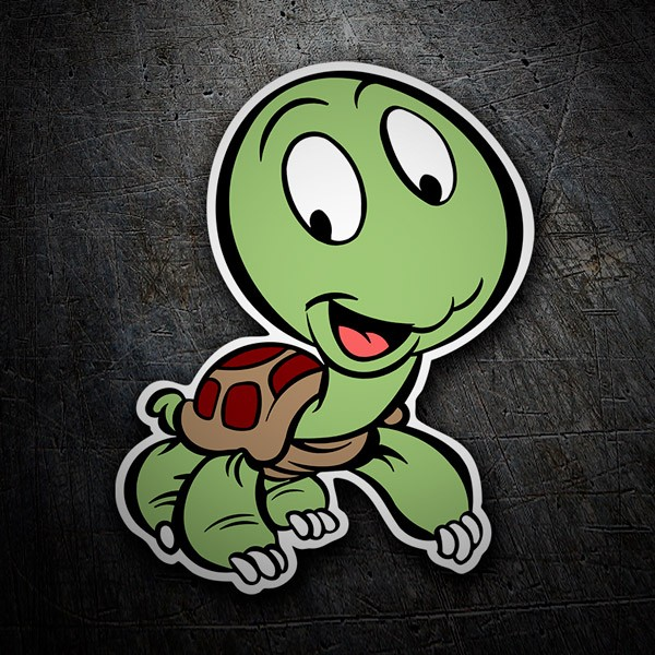 Car & Motorbike Stickers: baby turtle