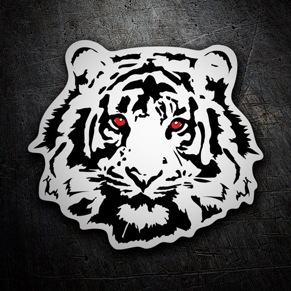 Car & Motorbike Stickers: Tiger red eyes