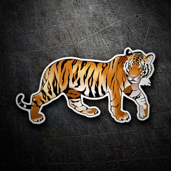 Car & Motorbike Stickers: Siberian Tiger