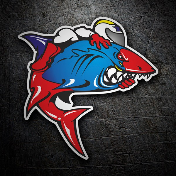 Car & Motorbike Stickers: Piloting a shark