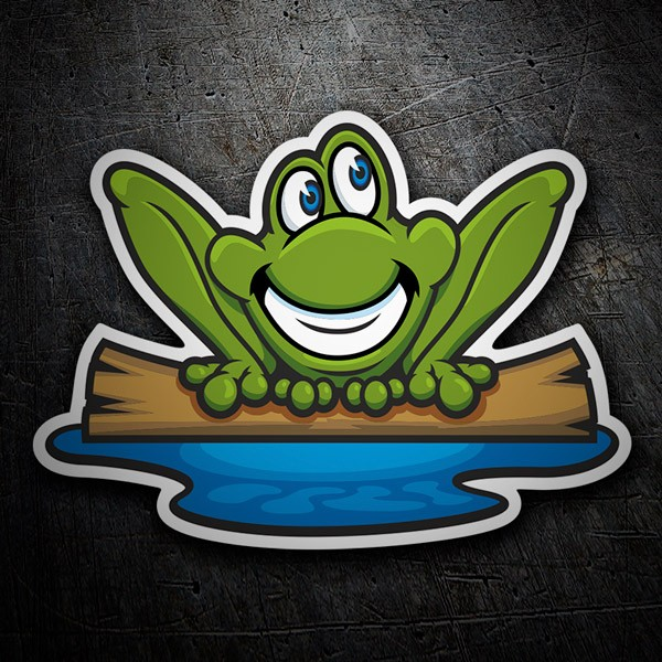 Car & Motorbike Stickers: Smiling frog