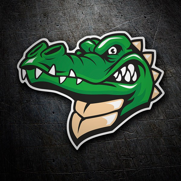 Car & Motorbike Stickers: Crocodile