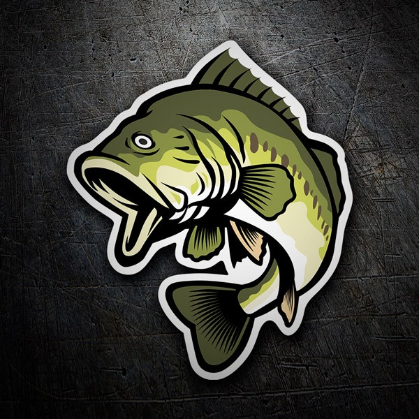 Car and Motorbike Stickers: Black Bass