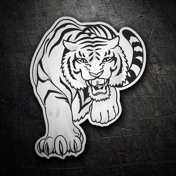 Car & Motorbike Stickers: White Tiger