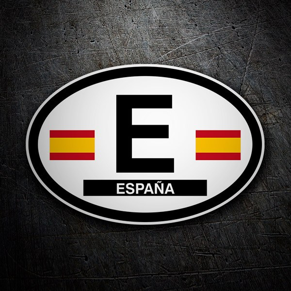 Car & Motorbike Stickers: Oval Spain E