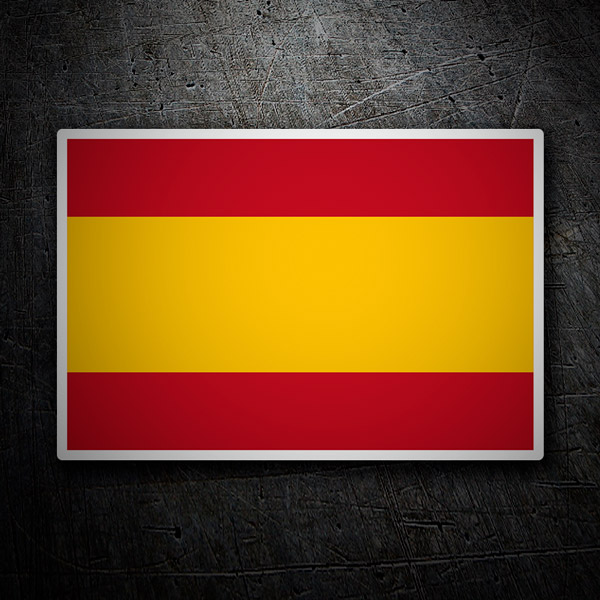 Car & Motorbike Stickers: Spain flag without shield