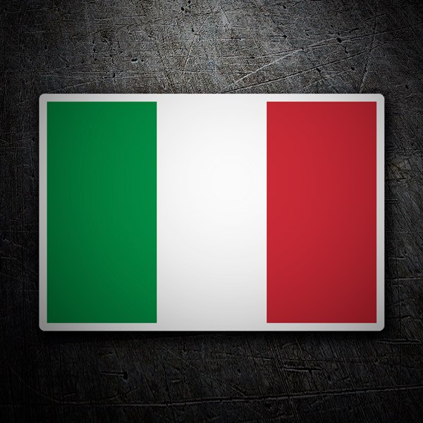 Car & Motorbike Stickers: Flag Italy