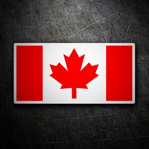 Car & Motorbike Stickers: Flag Canada