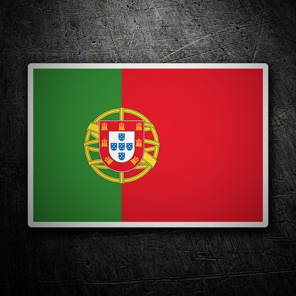 Car & Motorbike Stickers: Flag Portugal
