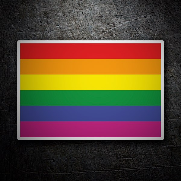 Car and Motorbike Stickers: Rainbow flag