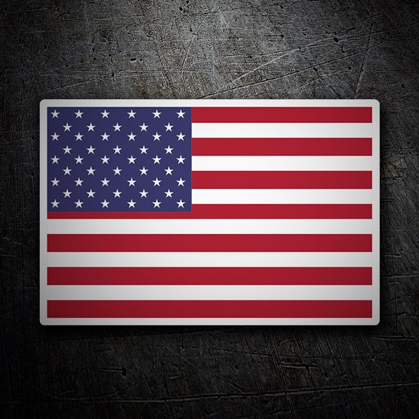 Car & Motorbike Stickers: Flag USA