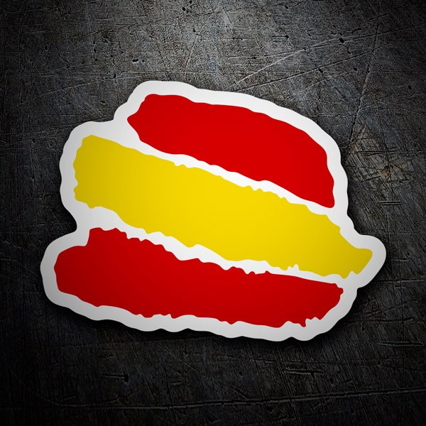 Car & Motorbike Stickers: Strokes Spain white