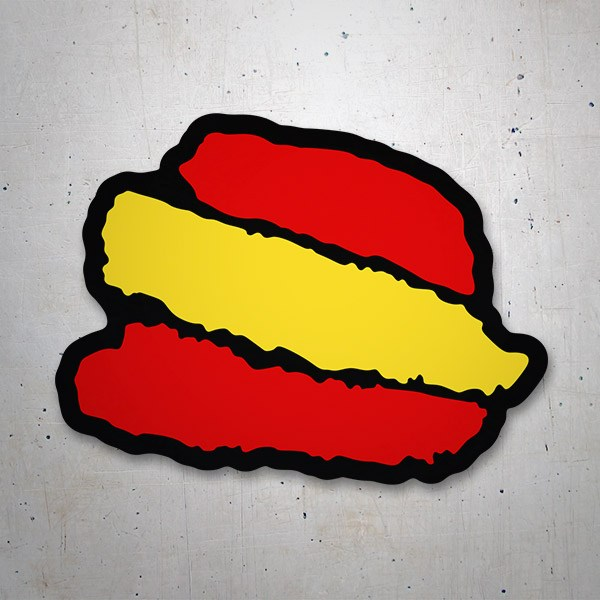 Car & Motorbike Stickers: Spain Brushstroke