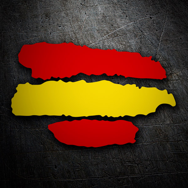 Car & Motorbike Stickers: Spain a strokes