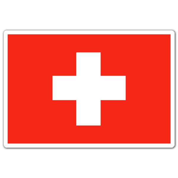 Car & Motorbike Stickers: Flag of Switzerland