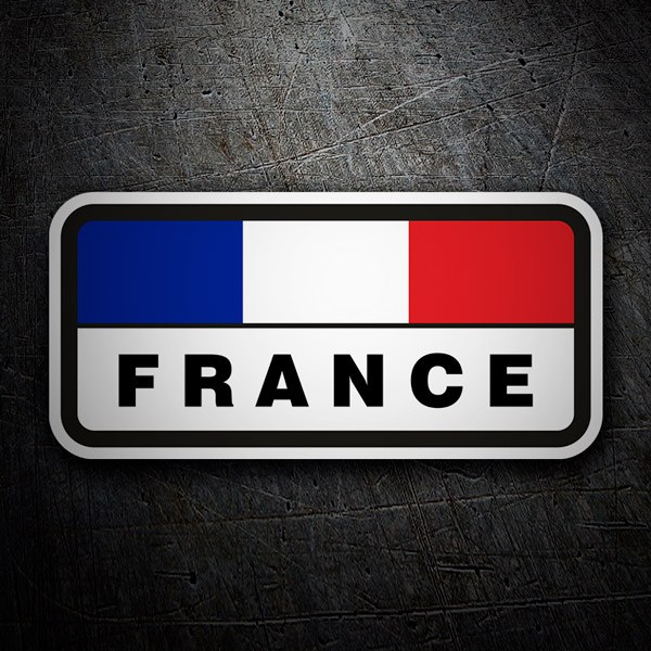 Car & Motorbike Stickers: Flag of France horizontal