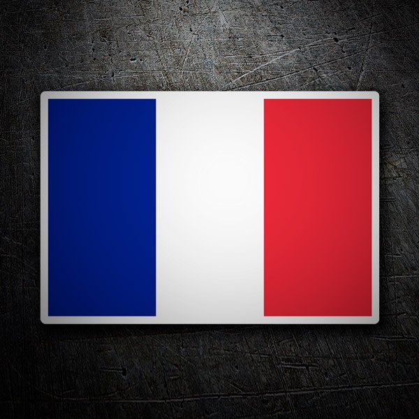 Car & Motorbike Stickers: Flag of France without shield