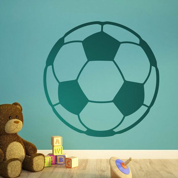 soccer ball vinyl wall sticker decal art soccer player