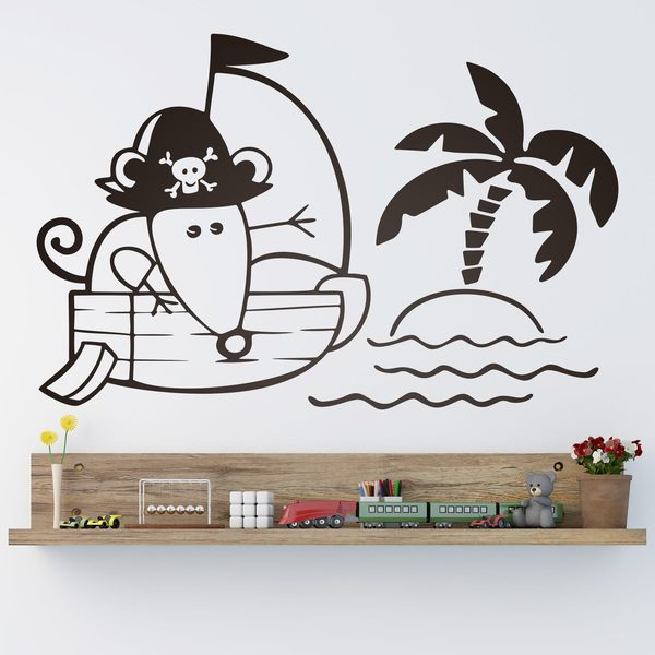 Stickers for Kids: Mouse on pirate ship