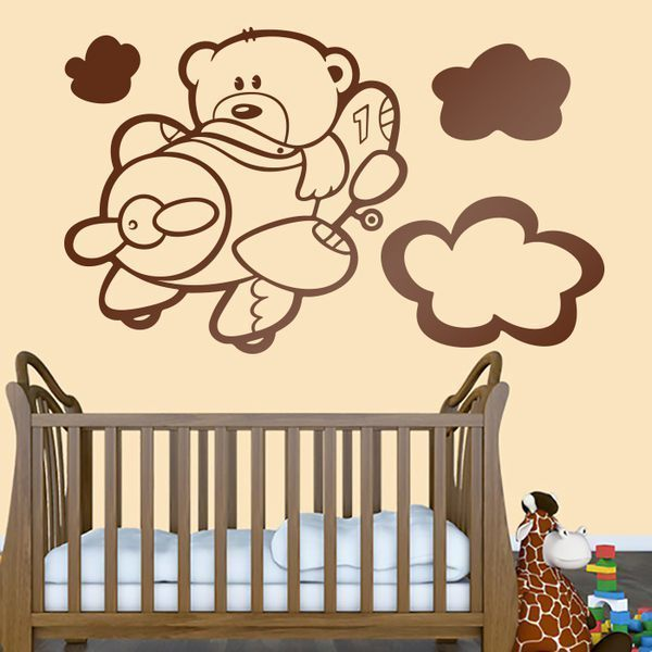 Stickers for Kids: Aviator bear