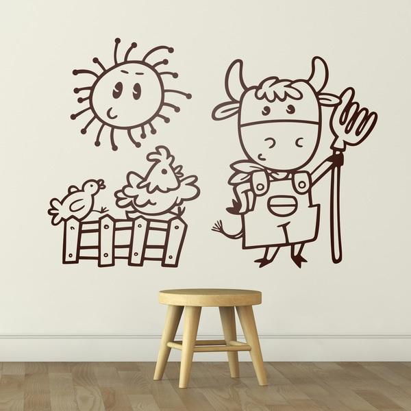 Stickers for Kids: The cow farm