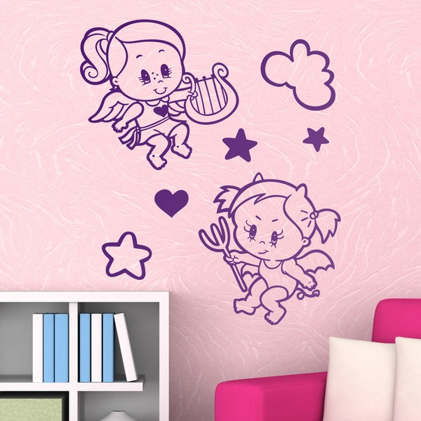 Stickers for Kids: Angel and demon