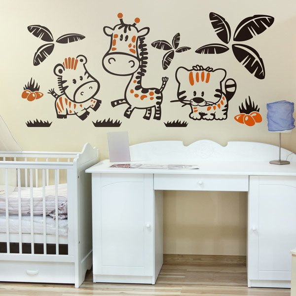 Stickers for Kids: Zebra, giraffe and lion