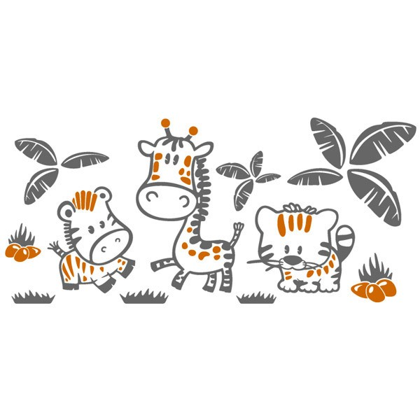 Stickers for Kids: Jungle animals Multicolored